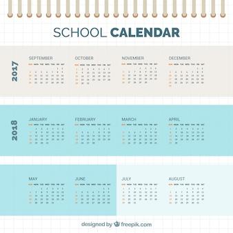 Calendário escolar, estilo simples