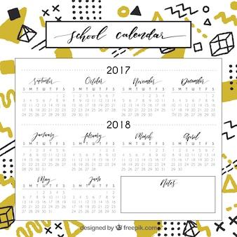 Calendário escolar legal e colorido