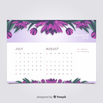 Calendário floral