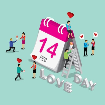 Calendário internayional do dia dos namorados
