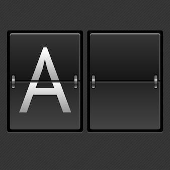 Calendário mecânico de ilustração vazio. o conceito da competição