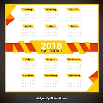 Calendário moderno de 2018