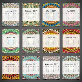 Calendário ornamental anual para 2017