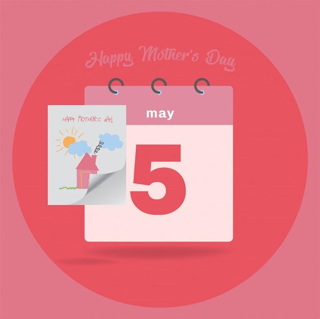 Calendário plano de 5 de maio
