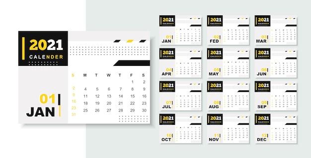 Calendário profissional de negócios