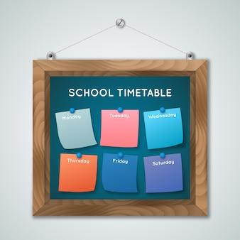 Calendário realista de volta à escola