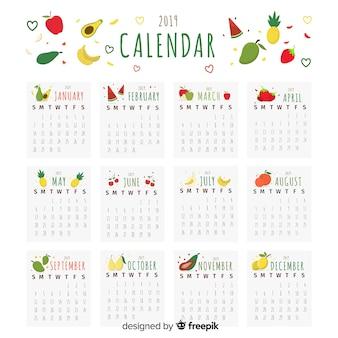 Calendário sazonal de frutas e legumes
