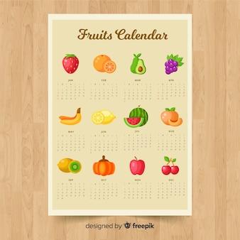Calendário sazonal de legumes e frutas