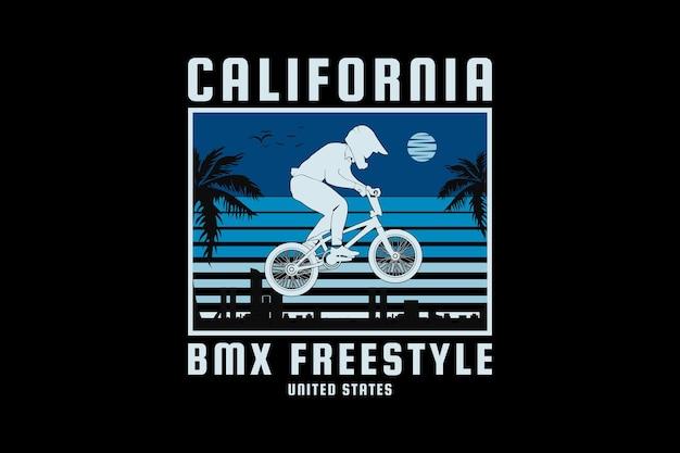 California bm freestyle, design elegante estilo retro