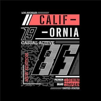 Califórnia los angeles gráfico abstrato t shirt ilustração vetorial estilo casual masculino