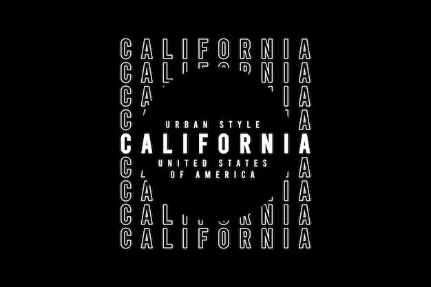 Califórnia, tipografia de maquete