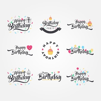 Caligrafia de aniversário fofa e engraçada