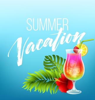 Caligrafia de férias de verão
