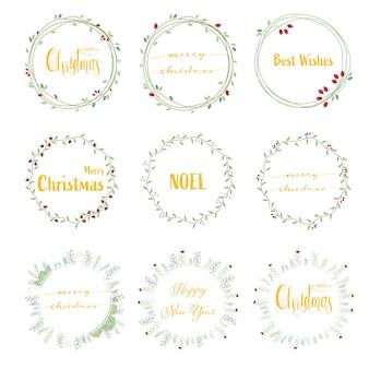 Caligrafia de natal feliz dourado