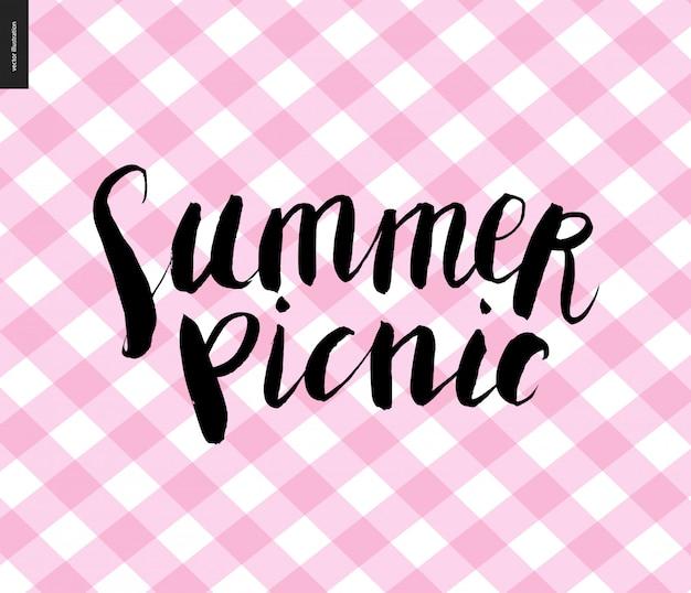 Caligrafia de piquenique de verão