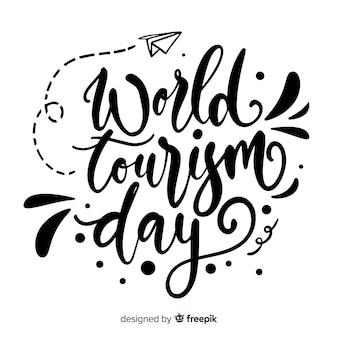 Caligrafia do dia mundial do turismo