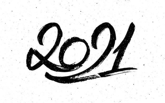 Caligrafia para 2021 ano novo do boi