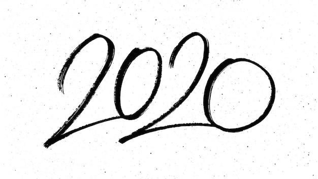 Caligrafia para o ano novo de 2020