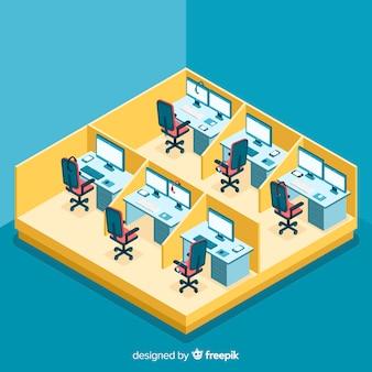 Call center em estilo isométrico