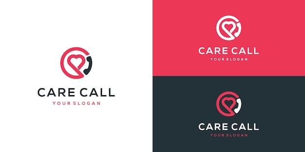 Call logo com inspiração de design de coração
