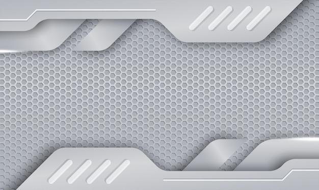 Camada de formas abstratas textura de folha de prata com gradiente de aço brilhante e metal de cor suave