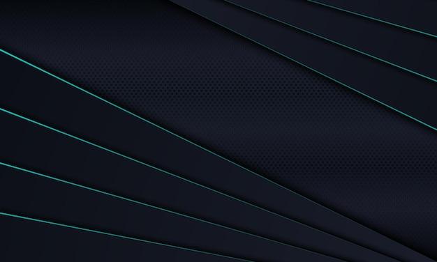 Camada de sobreposição de listras escuras com fundo de linhas azuis. ilustração vetorial