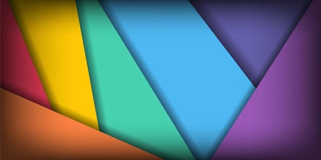 Camada de sobreposição geométrica criativa abstrata com fundo colorido