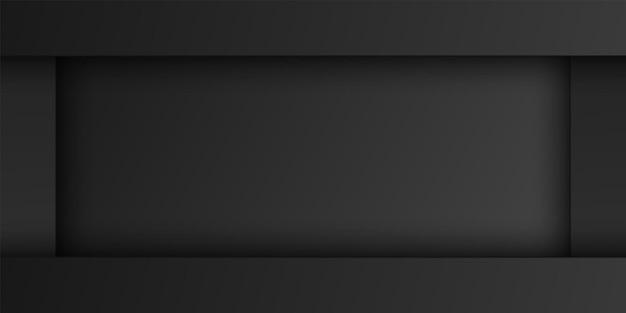 Camada de sobreposição retangular preta abstrata fundo de forma de retângulo padrão escuro design mínimo