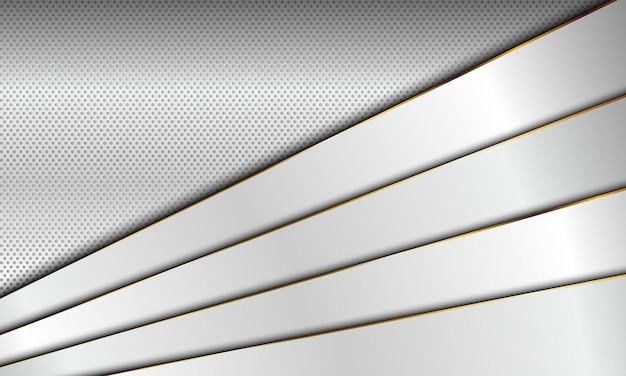 Camada sobreposta de listras brancas com fundo de linhas douradas. ilustração vetorial. novo design para o seu negócio.