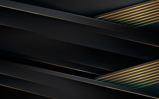 Camadas de dimensão com fundo de efeito de linha dourada