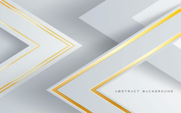 Camadas de dimensão triangular decoração de linha dourada de fundo