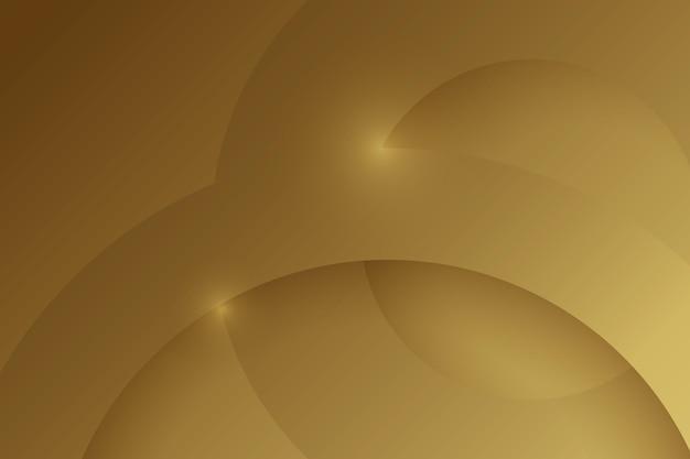 Camadas de fundo circular de formas de luxo de ouro