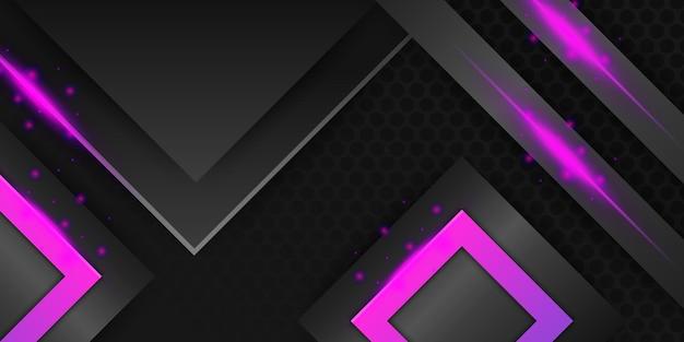 Camadas de fundo de camadas de sobreposição diagonal abstratas pretas com decoração de luz metálica magenta vermelha