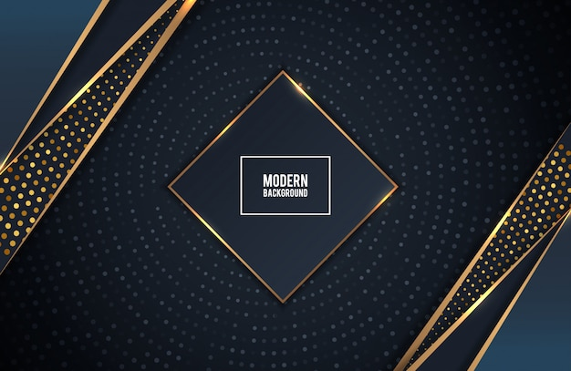 Camadas de fundo dourado e preto de luxo