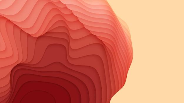 Camadas de papel coloridas. corte de papel gradiente abstrato 3d.