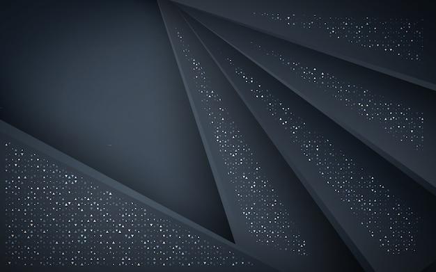 Camadas de sobreposição azul escuro com ouro reluz fundo