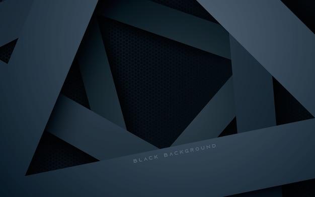 Camadas de sobreposição de dimensão preta em fundo escuro