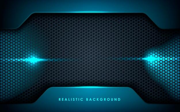 Camadas de sobreposição realistas com luzes azuis