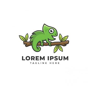 Camaleão de logotipo de ícone