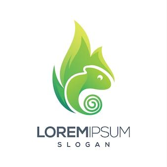 Camaleão logo gradiente cor logotipo design