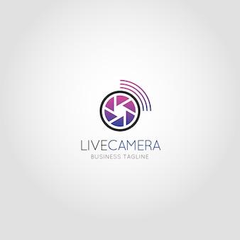 Câmara ao vivo - modelo de logotipo da câmera de câmeras de transmissão