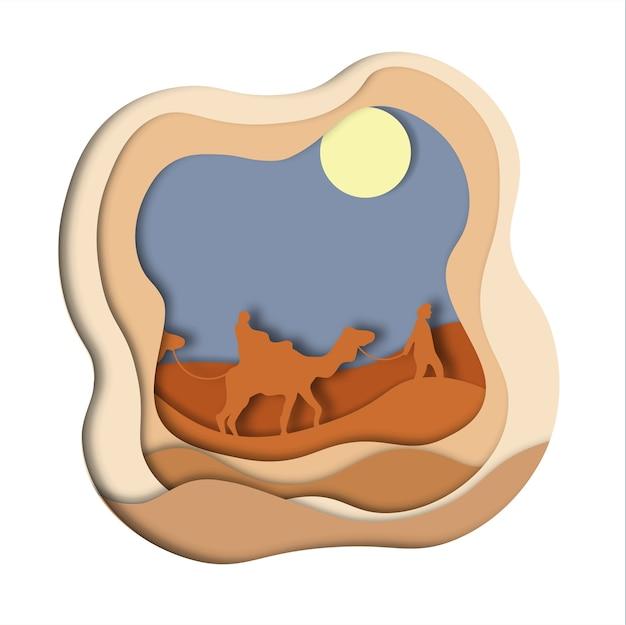 Camelo caravana do deserto