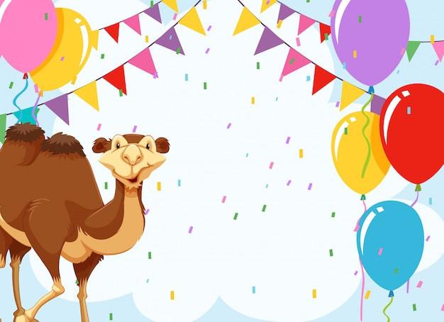 Camelo em um convite de festa
