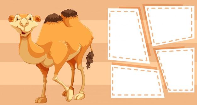 Camelo na armação de borda