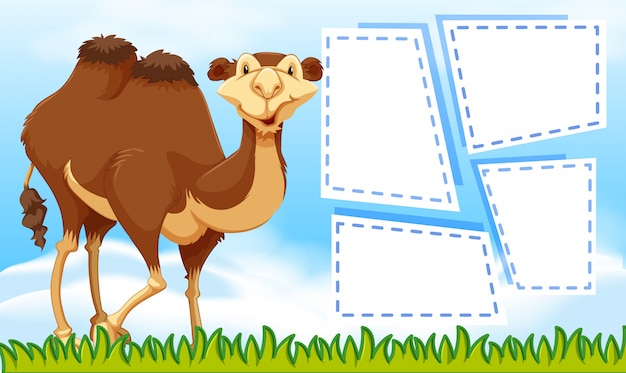 Camelo no modelo de nota