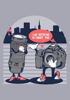 Câmera apaixonada