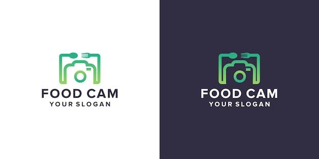 Câmera com design de logotipo de comida
