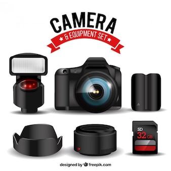 Câmera com equipamentos