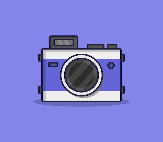 Câmera de desenho animado ilustrado