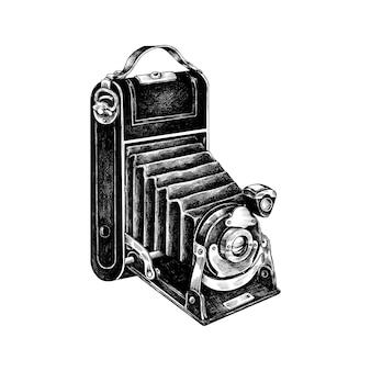 Câmera de filme retrô desenhada de mão
